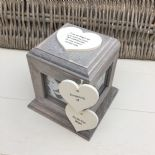 Shabby Chic In Memory Of BROTHER Or ANY NAME Rustic Wood Personalised Photo CUBE - 253967157145